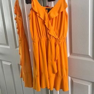 Orange Express minidress